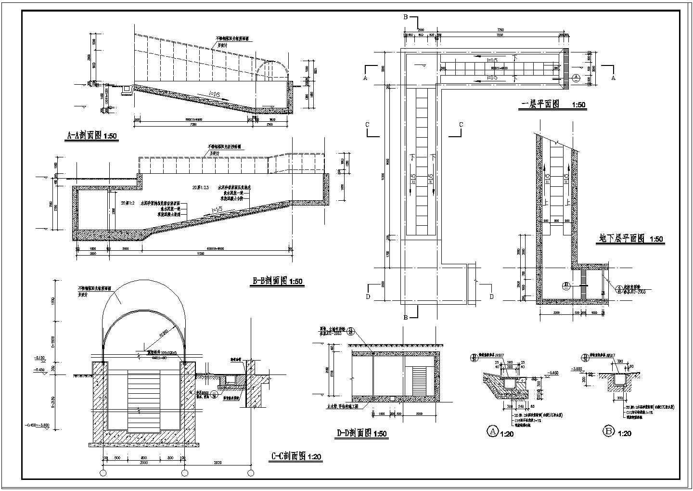 某详细的楼梯大样和门窗大样图(共4张)图片2