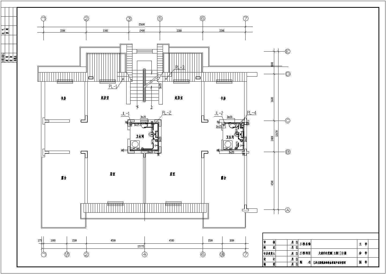 普通民用住宅偶给排水管道平面布置设计图图片2