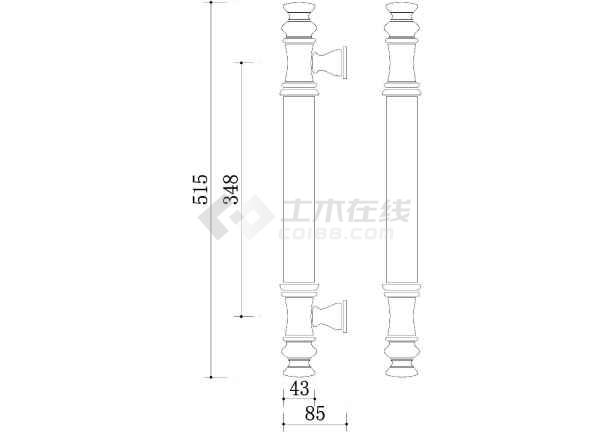 CAD图块之建筑CAD常用图块之门(一)-图2