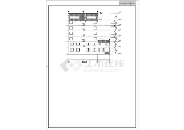 徽派6层框架结构住宅建筑建筑方案图