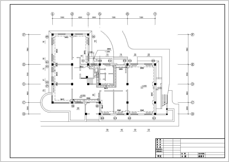 【黄山市】某市区综合楼建筑室内采暖系统图图片2