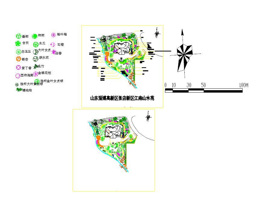 2016收集常用的cad植物图例100余例图片1