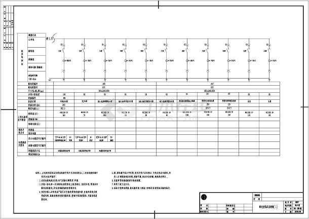 10000t电镀工业园废水处理整套电气施工图-图二