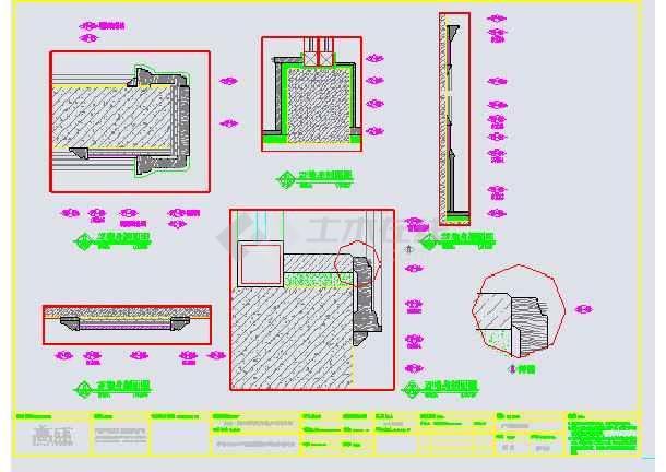 某美式休闲别墅装修设计图纸-图1
