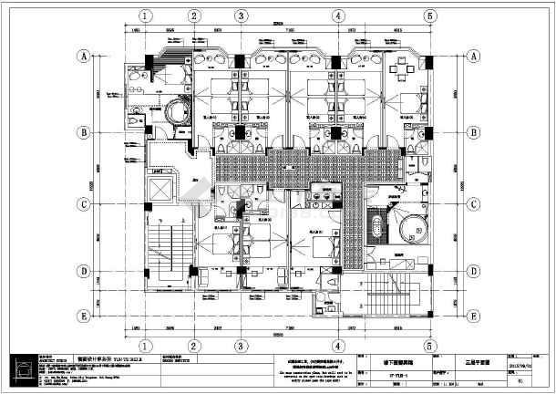 某地爱都宾馆装修设计全套图纸-图3