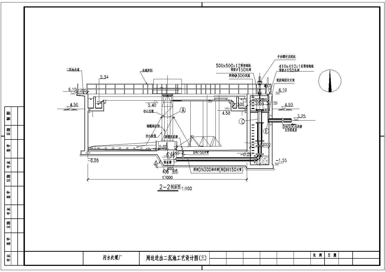 污水处理厂周边进出二沉池工艺设计图图片3