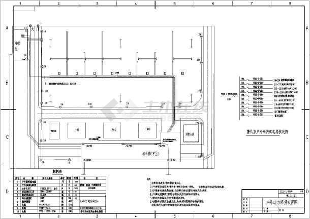 某地区小型变电站照明图(含说明)-图一