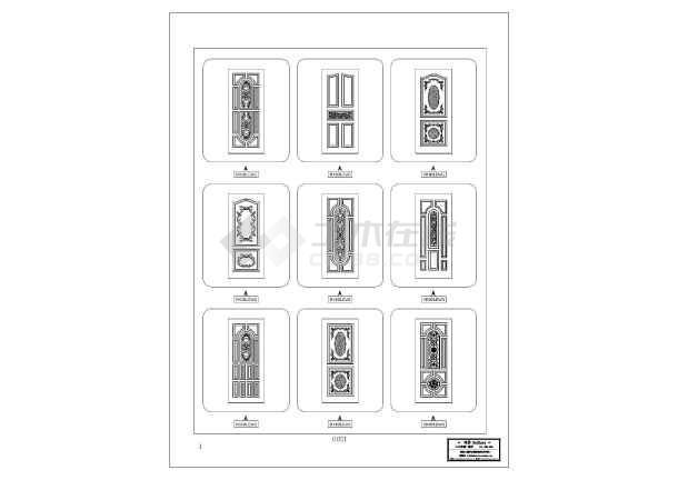 建筑CAD常用千种图块之单扇门-图1