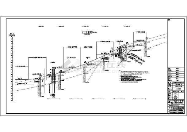 点击查看某挡墙工程结构施工图第1张大图