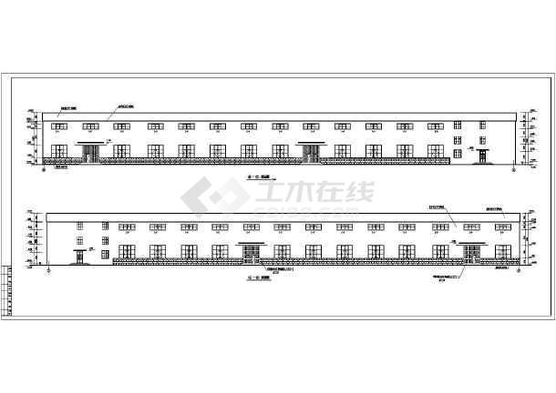 某地多层车间钢结构厂房设计施工图-图一