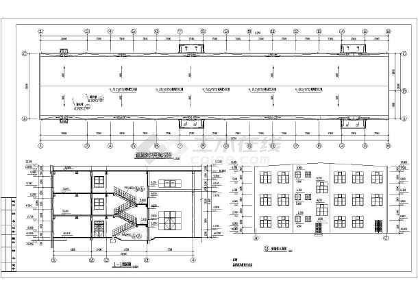 某地多层车间钢结构厂房设计施工图-图1