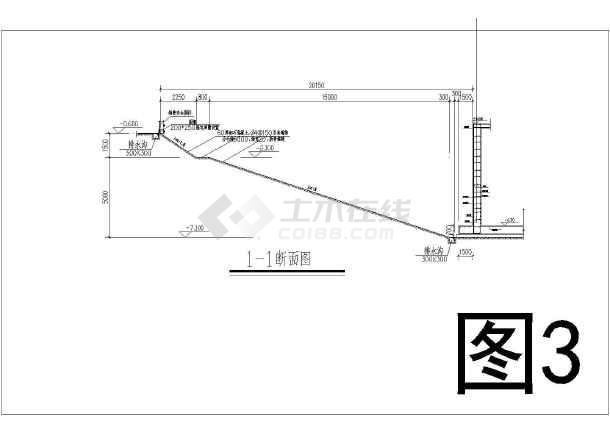 某地下室基坑围护及土方开挖施工图-图1