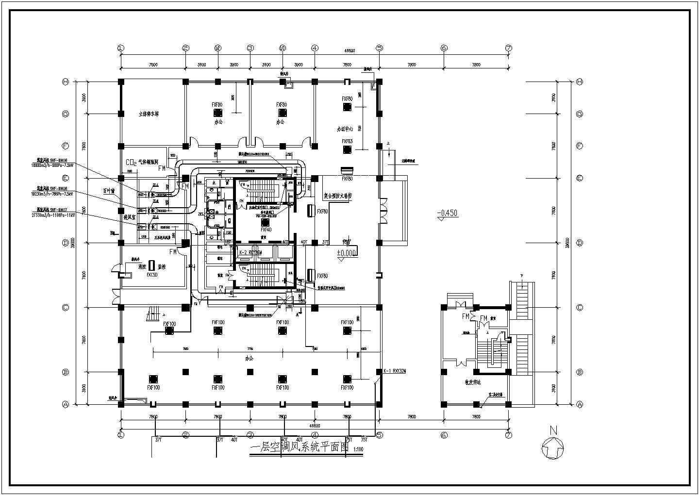 某11层办公楼VRV空调通风排烟设计施工图图片1
