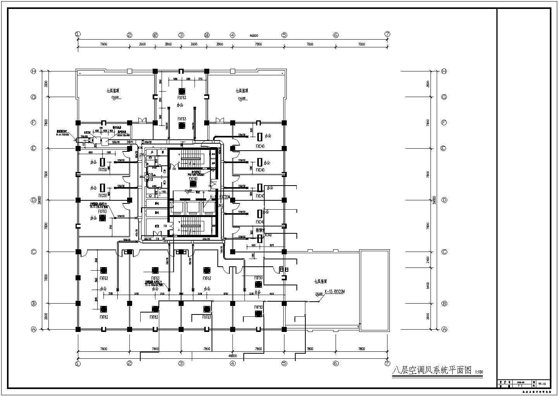 某11层办公楼VRV空调通风排烟设计施工图图片2
