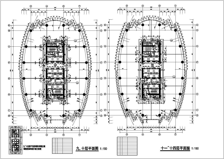 【大连】某四十二层超高层国际广场平面图图片1