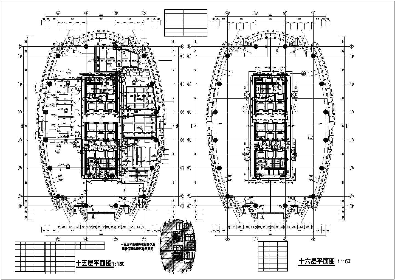 【大连】某四十二层超高层国际广场平面图图片2