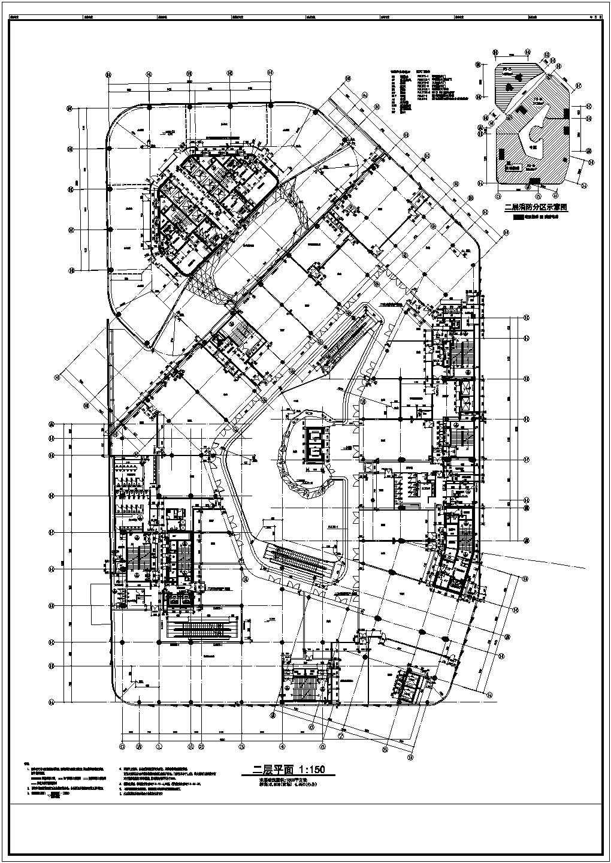 【北京】5层现代风格商业广场平面图设计方案图片2