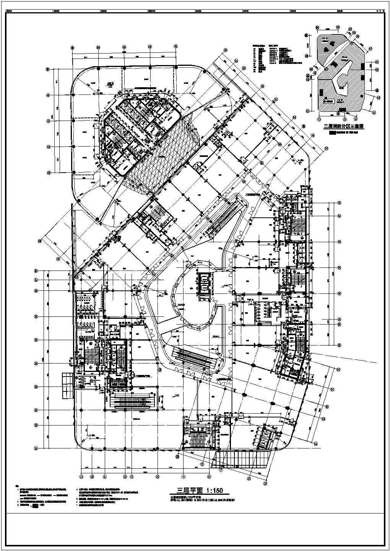 【北京】5层现代风格商业广场平面图设计方案图片3