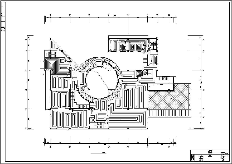 【河北】文化博物馆地板辐射采暖系统设计施工图图片2