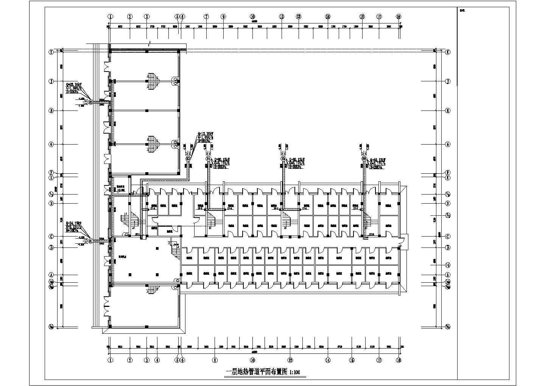 【辽宁】多层商业住宅楼地热辐射采暖系统设计施工图(连续供暖系统)图片1