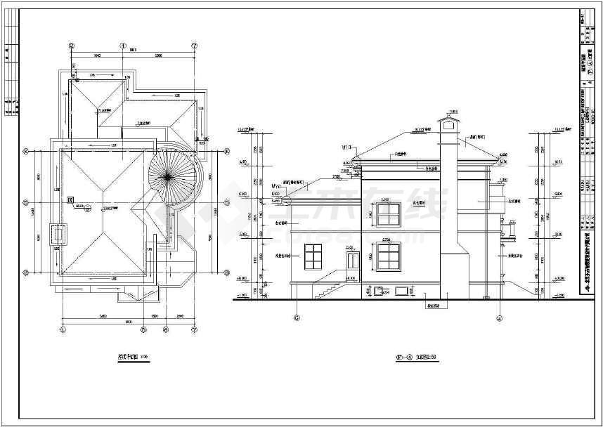 某砖混结构三层独栋别墅建筑施工图-图2