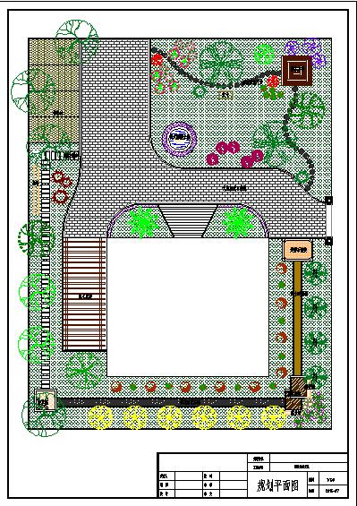 某某地大型典雅别墅园林景观设计图图片1