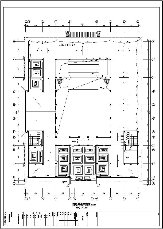 某县宣传文化指挥中心采暖系统图纸图片1