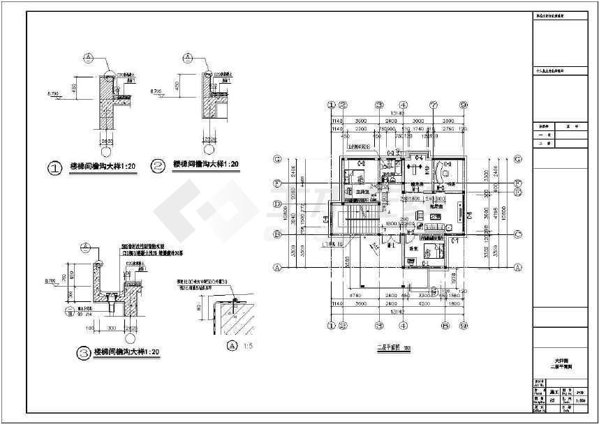 农村二层自建房全套施工图(附效果图)-图2