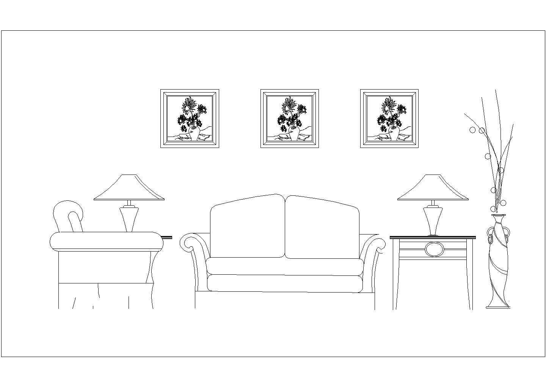 最新室内装修设计常用cad立面图库图片1