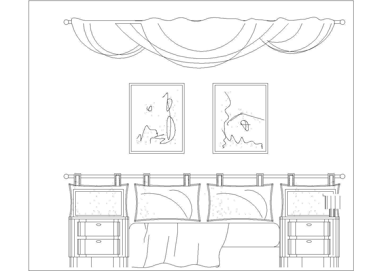 最新室内装修设计常用cad立面图库图片2