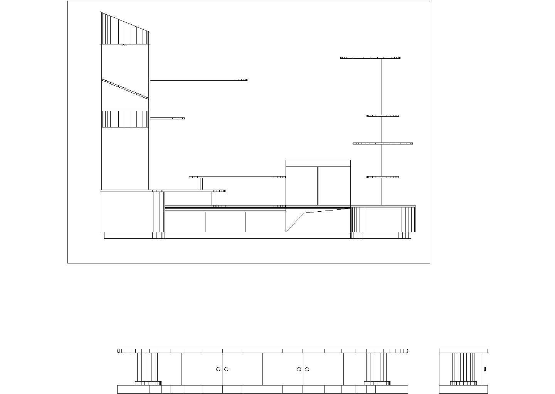 最新室内装修设计常用cad立面图库图片3